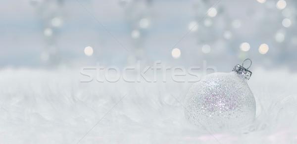 Christmas panoramisch afbeelding licht Stockfoto © g215
