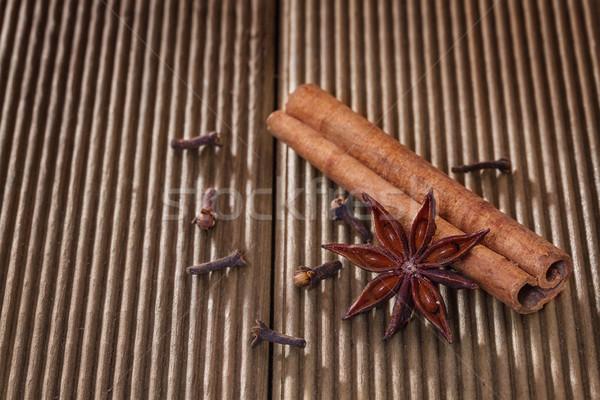 Canela anis branco cozinhar natal Foto stock © g215