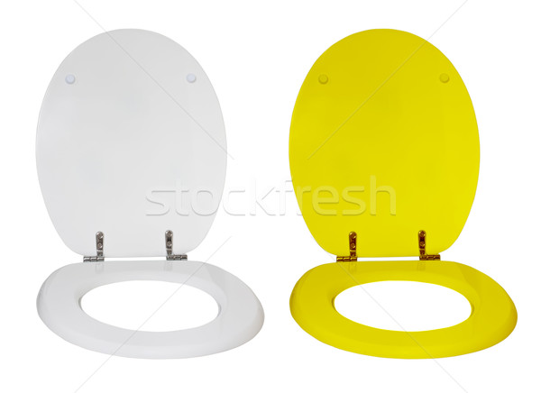 Toilet seat for a toilet bowl isolated on a white background Stock photo © g215