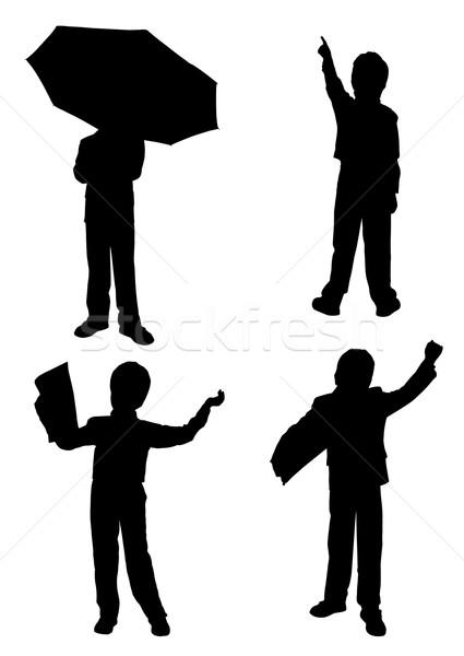 силуэта человека служба фон костюм Сток-фото © g215