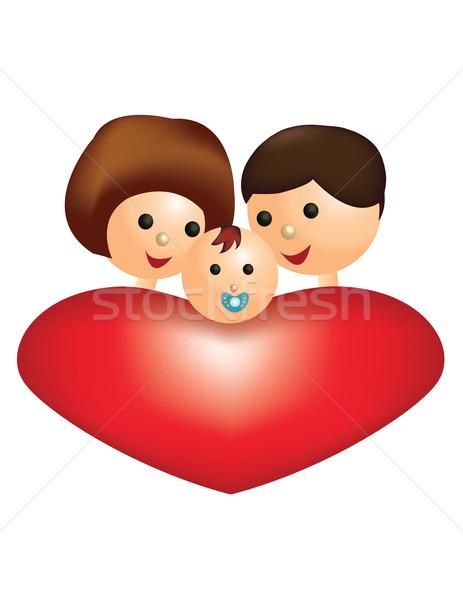 happy, loving family  Stock photo © g215