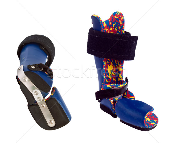 Foto stock: Ortopédico · equipamento · correção · crianças · criança · azul
