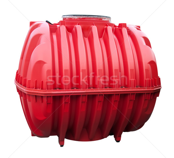 Red water tank isolated on a white background. Stock photo © g215