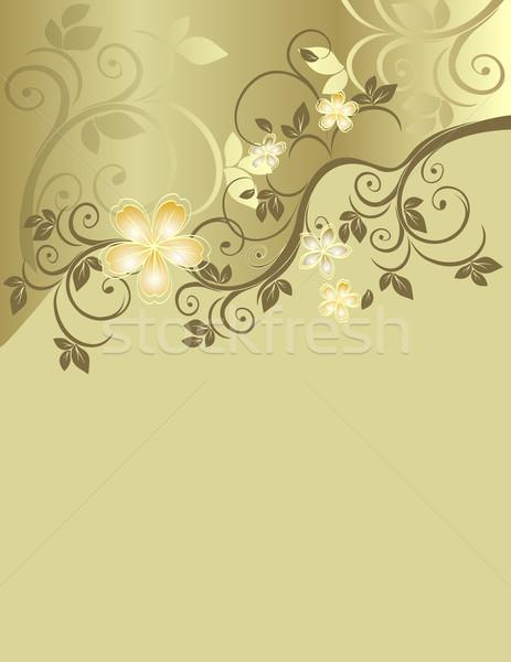 печать цветочный шаблон пространстве текста Сток-фото © g215