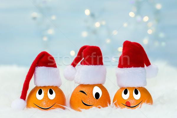 Karácsony mikulás kalap vicces betűk eredeti Stock fotó © g215