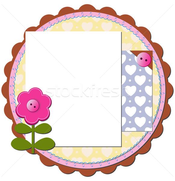 Abstrato recados elementos flor papel fundo Foto stock © g215