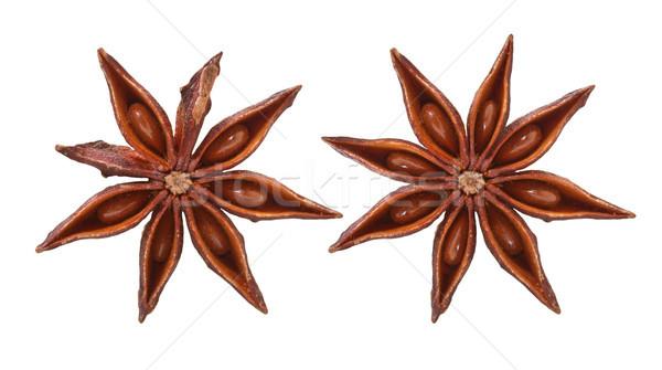 Anis estrelas branco cozinhar semente doce Foto stock © g215