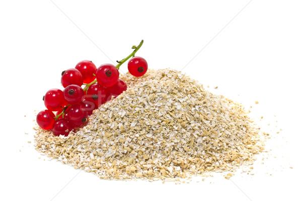 Yulaf kepek kırmızı beyaz uygunluk meyve Stok fotoğraf © g215