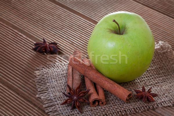 яблоко анис корицей фрукты белый Сток-фото © g215