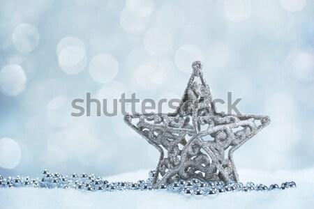 шелковые Рождества текстуры фон искусства звездой Сток-фото © g215