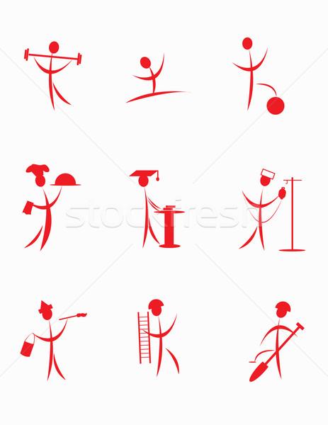 набор графических Элементы дизайна лист футбола Сток-фото © g215