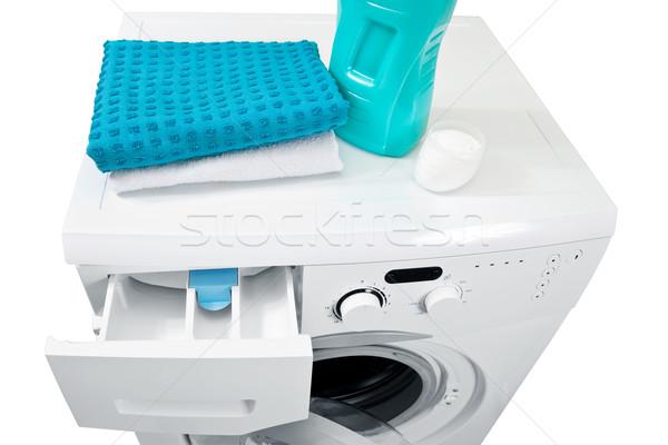 Washing machine and laundry powder for washing.  Stock photo © g215