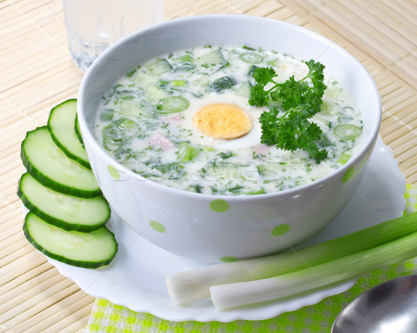 Summer cold soup with vegetables Stock photo © g215