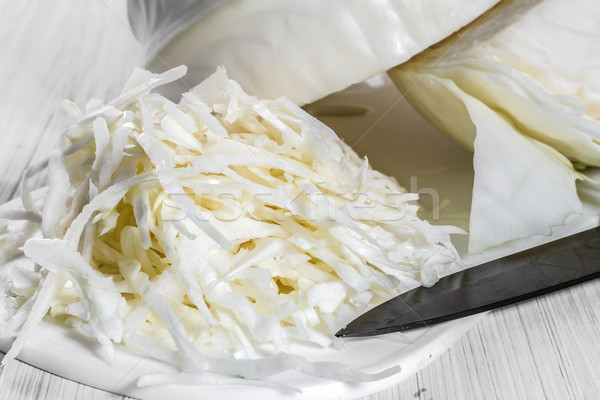 White cabbage on the board. Stock photo © g215