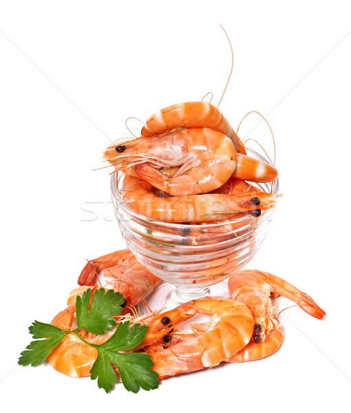 Vetro insalatiera isolato bianco pesce Foto d'archivio © g215