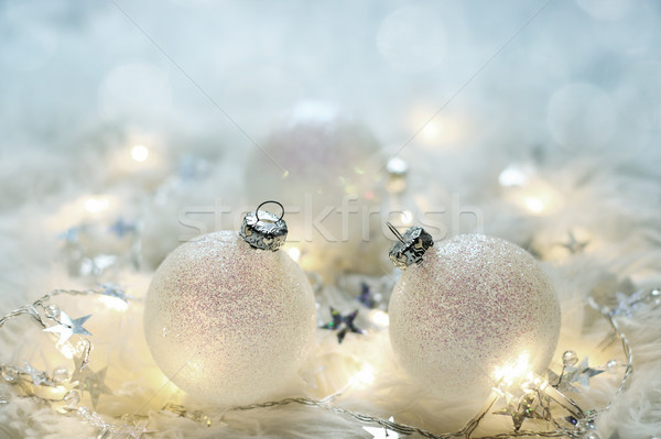 Christmas card with christmas balls Stock photo © g215