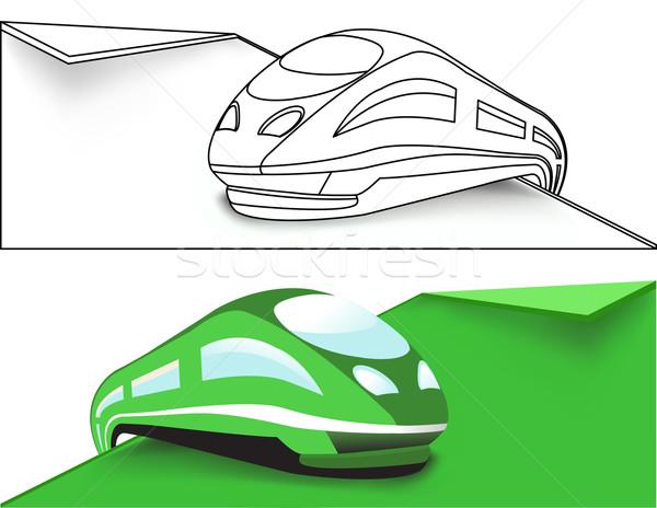 Сток-фото: зеленый · поезд · интернет · фон · знак · веб