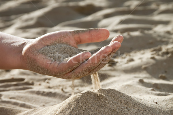 Sand flowing through your fingers Stock photo © g215