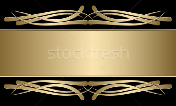 Vintage frame with a gold stamping Stock photo © g215