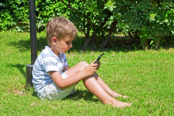 Ragazzo ebook libro faccia kid giovani Foto d'archivio © g215