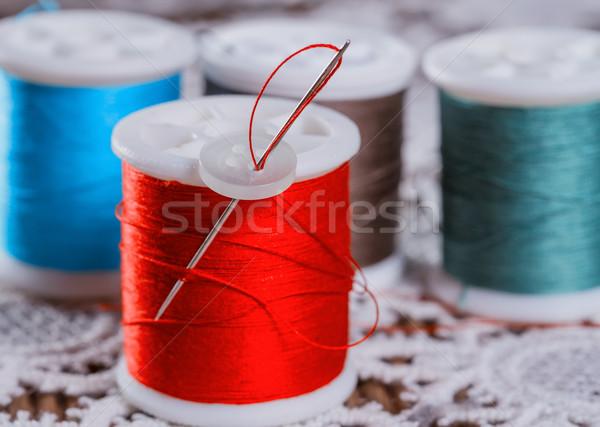スレッド 作業 芸術 色 ヴィンテージ 繊維 ストックフォト © g215