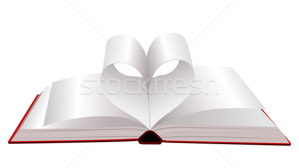 Open book with folded pages Stock photo © g215