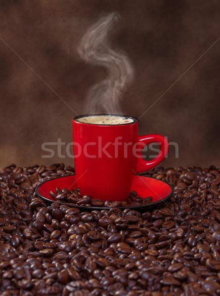 Kahve kırmızı fincan sanat uzay alışveriş Stok fotoğraf © g215