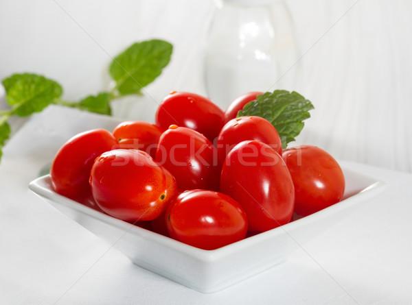 Mini tomatoes on a platter  Stock photo © g215