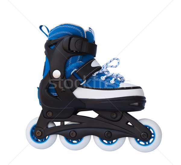 Blue roller skates isolated on a white background. Stock photo © g215