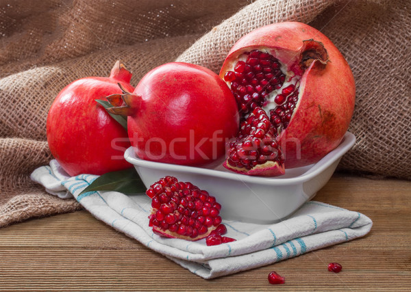 Maduro fruto verde vermelho suco sobremesa Foto stock © g215