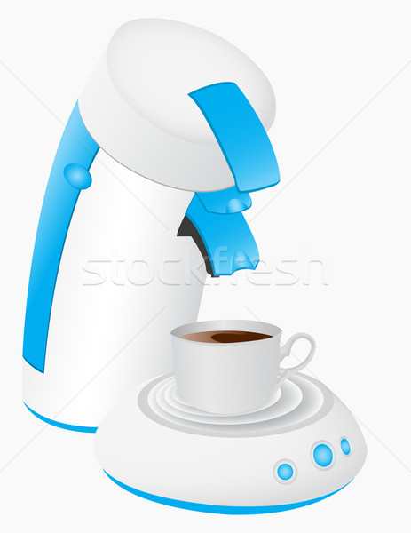 A coffee maker and a mug full of coffee.  Stock photo © g215