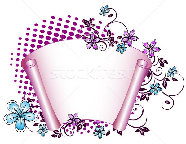 цветочный шаблон текстуры аннотация кадр современных Сток-фото © g215