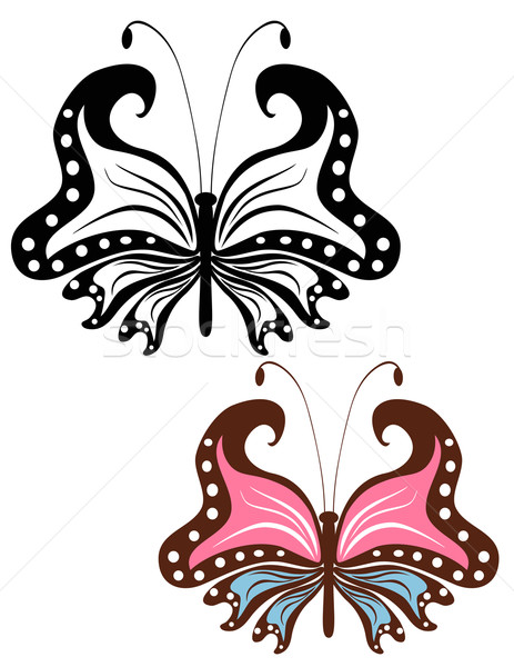 Abstract image openwork butterfly Stock photo © g215