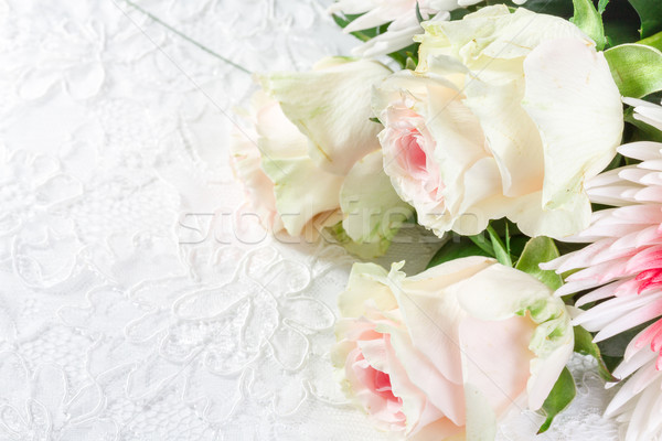 Wedding background with roses  Stock photo © g215