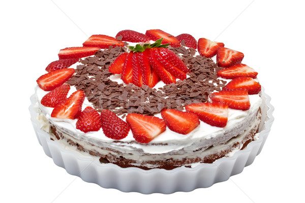 Strawberry Cake isolated on a white background.  Stock photo © g215