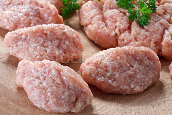 raw minced meat ready for cooking Stock photo © g215