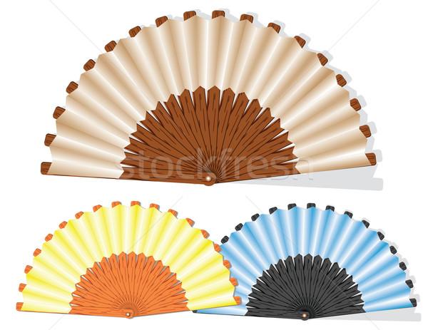 Openwork handmade fan  Stock photo © g215