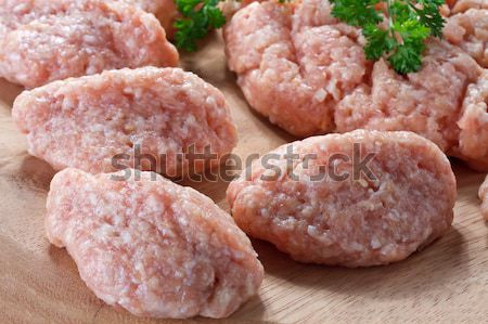 Stock photo: raw minced meat ready for cooking