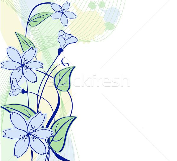 пастельный цветочный цветок текстуры весны искусства Сток-фото © g215