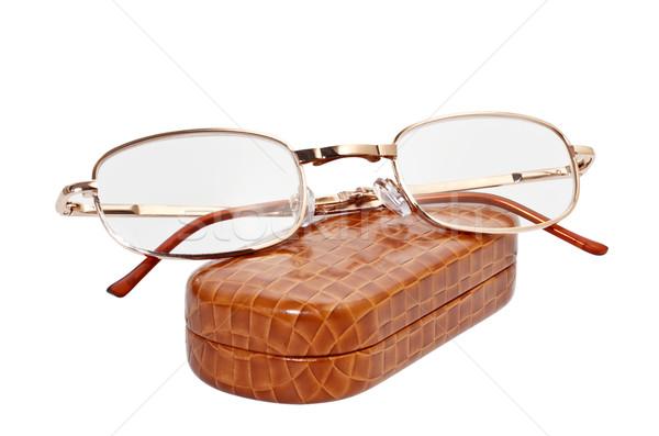 Olvasószemüveg tok fehér keret napszemüveg műanyag Stock fotó © g215