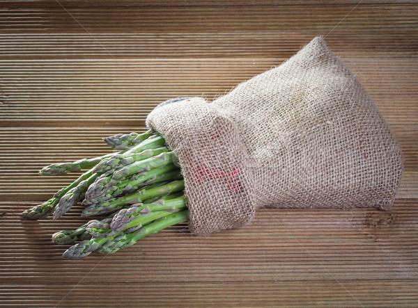 Fresco espargos comida saúde fundo Foto stock © g215