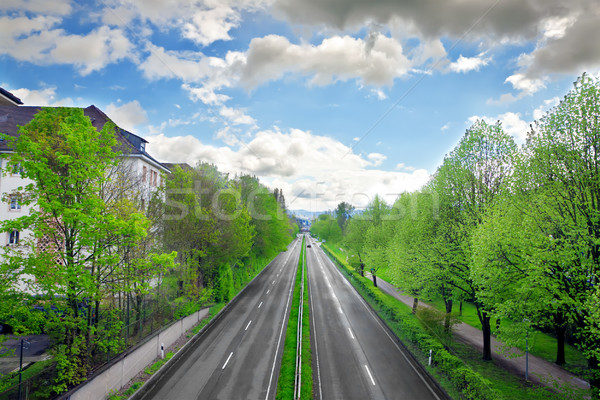 Stock photo: Motorway in the Baden-Baden. Germany