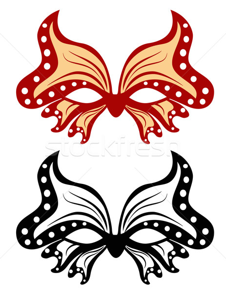 Image masquerade mask in the shape of a butterfly Stock photo © g215