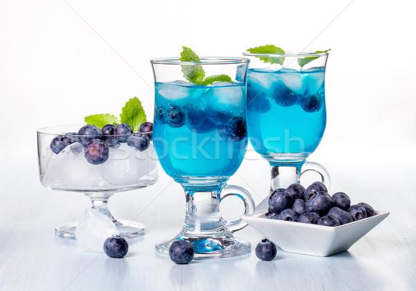 коктейль черника мята воды продовольствие стекла Сток-фото © g215