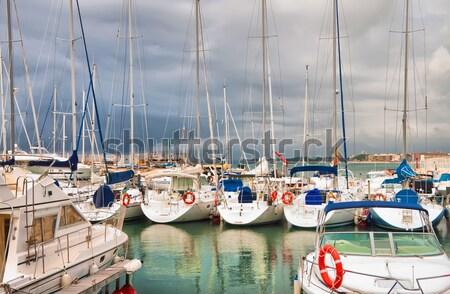 Yacht Club on the coast Stock photo © g215