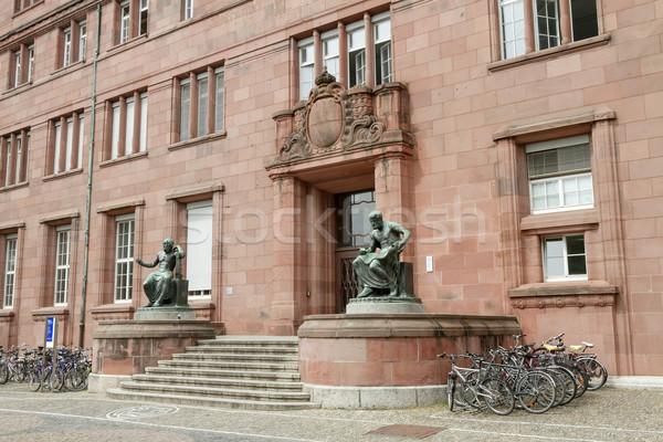 épület egyetem Németország Európa város oktatás Stock fotó © g215