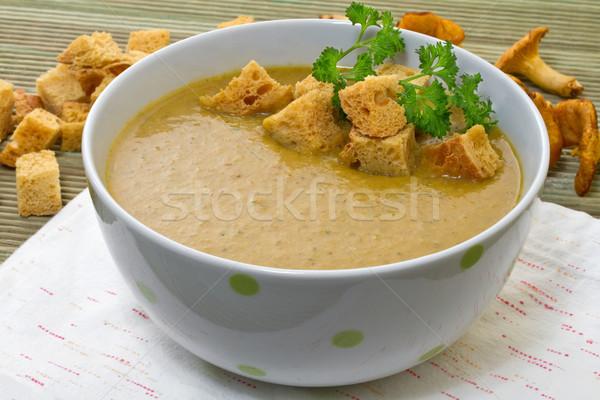Leves felszolgált étel egészség zöld tányér Stock fotó © g215