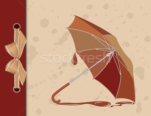 Abrir guarda-chuva vintage chuva arte padrão Foto stock © g215