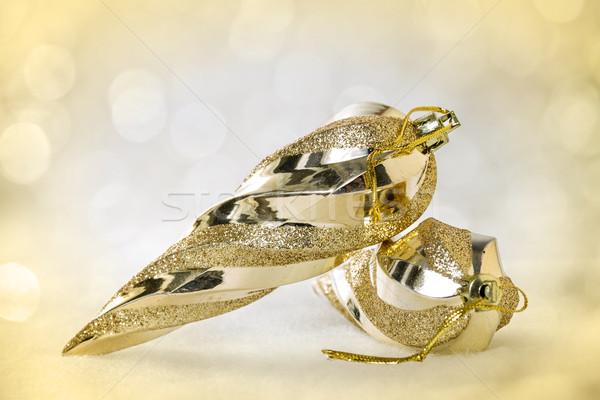 Karácsony arany terv üveg tél szín Stock fotó © g215
