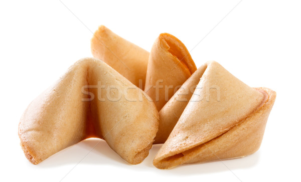 Chinese fortune cookie with blank paper strip isolated on white  Stock photo © g215